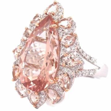 Morganite Diamond Ring