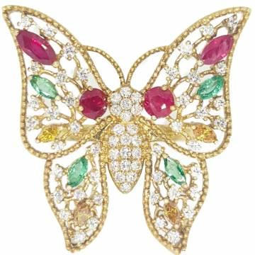 Rudy, Emerald, and Diamond Ring